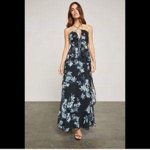 NWT BCBG Midnight Silhouette Floral Maxi Dress 4